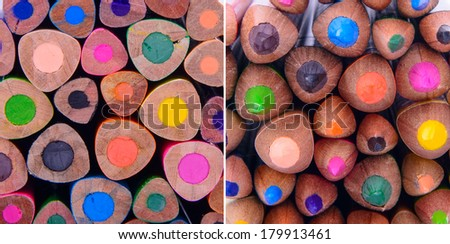 abstract background  colour pencils close up