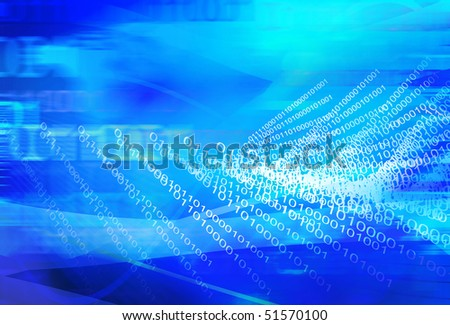 abstract background composite with binary pattern