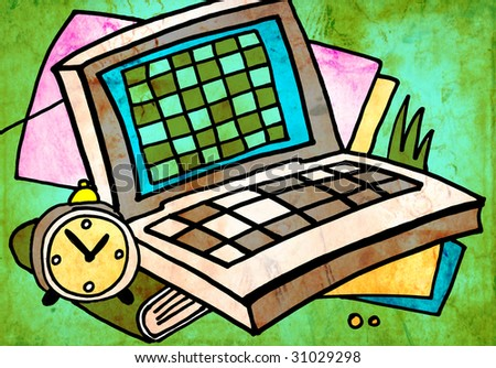 abstract background computer - stock photo