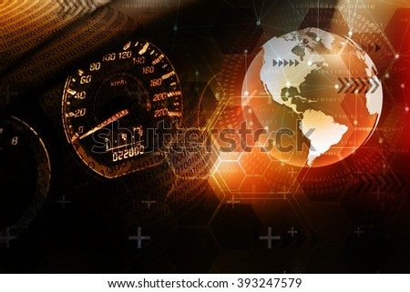 Abstract background, concept of racing technology. - stock photo
