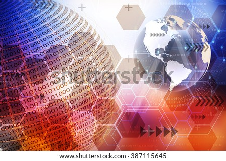 Abstract background, concept of technology. - stock photo