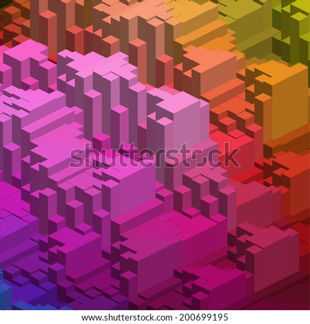 abstract background consisting of triangles - stock photo