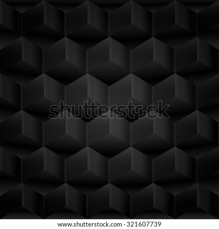 Abstract background, 3d cubes, black texture - stock photo