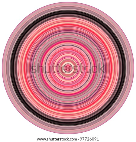abstract background 3d render concentric pipes in multiple pink purple - stock photo