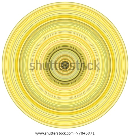 abstract background 3d render concentric pipes in multiple yellow - stock photo