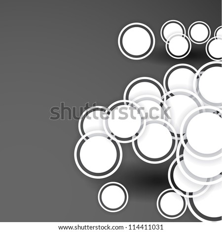 abstract background design circles shadows