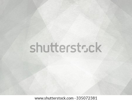 abstract background design, geometric lines angles shapes in white layers of transparent material - stock photo