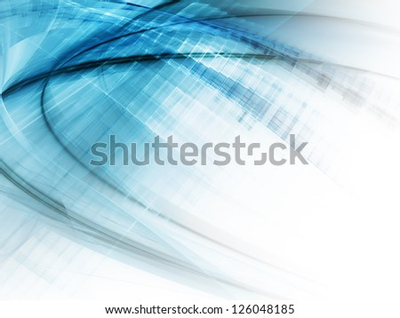 Abstract background design in blue and white - stock photo