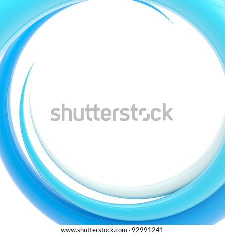 Abstract background, design template made of bright glossy spiral twirl - stock photo