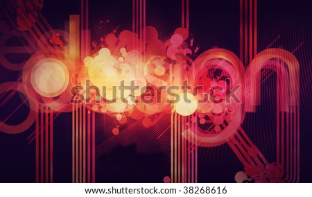 Abstract background design with colourful lines.