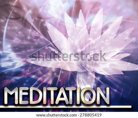 Abstract background digital collage concept illustration meditation contemplation - stock photo