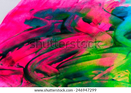 Abstract background drawn by oil paints and brushes close-up shot - stock photo