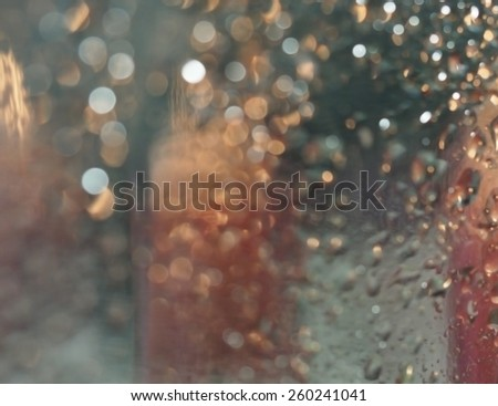 abstract background, drops on glass - stock photo