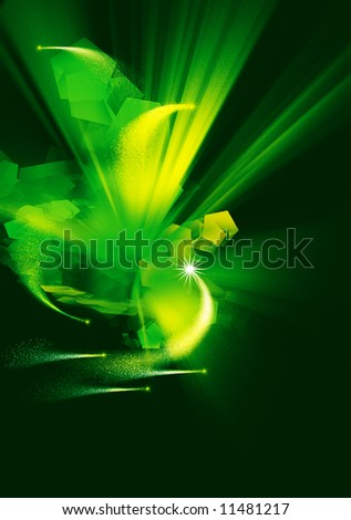 Abstract background explosion in a space - stock photo