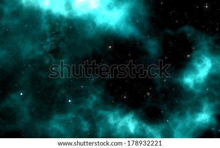 Abstract background, explosion in the sky - stock photo