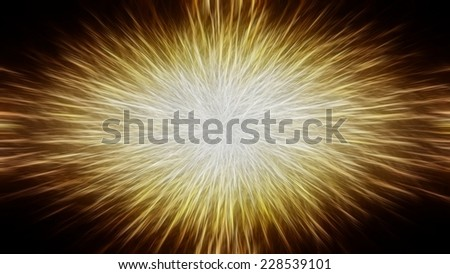 abstract background. explosion star on golden