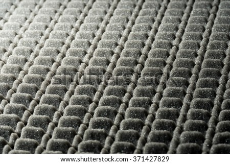 Abstract Background - Foam Rubber  / Grey and black abstract background in foam rubber - stock photo