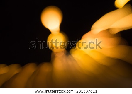 Abstract background, focus blur and low speed shutter