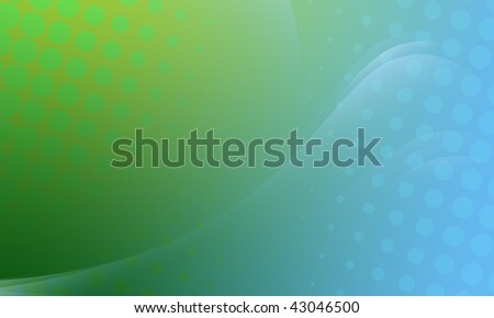 Abstract background for all purposes. Contains blue and green gradients and dotted effects. Quiet colors, low contrast. - stock photo