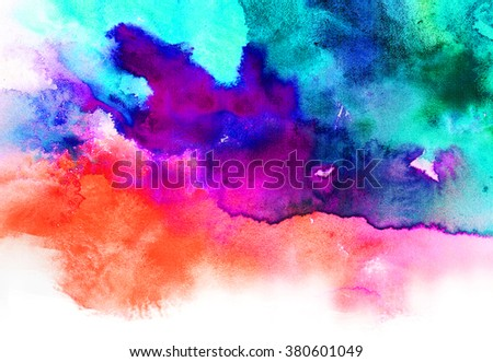 Abstract background for design. colorful abstract watercolor background - stock photo