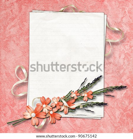 Abstract background for invitation and photo. Velvet. - stock photo