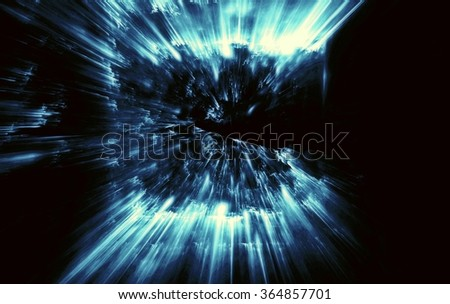 abstract background. fractal explosion of a star with glitter