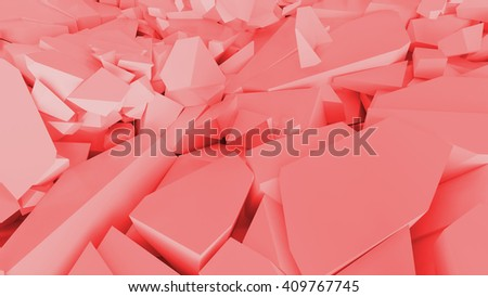 abstract background, fractured surface with random sized pieces