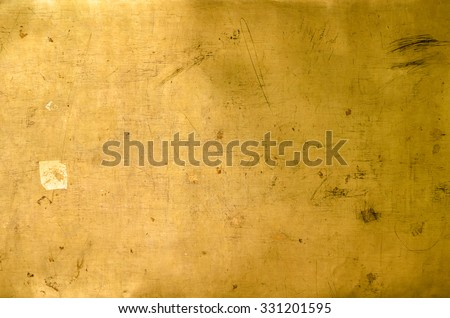 Abstract background from close up golden wall - stock photo