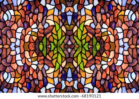 Abstract background from color fragments of glass - stock photo