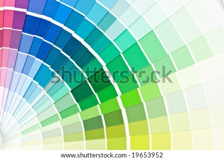 Abstract background from color guide. Close up.