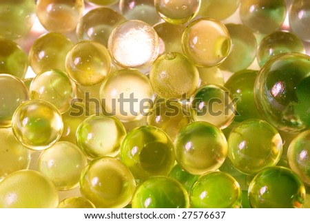 Abstract background from color silicone balls