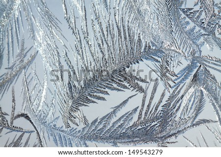abstract background from frosty pattern on glass