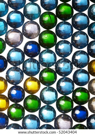 Abstract background from glass colour spheres - stock photo