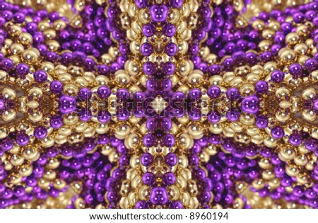 Abstract Background from Gold and Purple Beads - stock photo