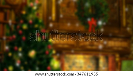 Abstract background from image at de-focus christmas tree with defocused lights and background:ideal use for background. - stock photo