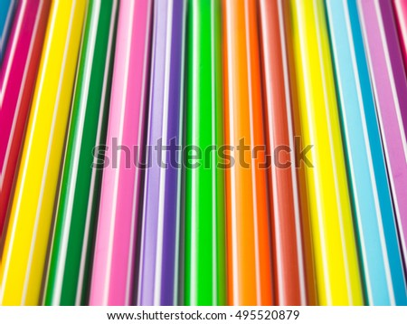 Abstract background from row of colorful pen