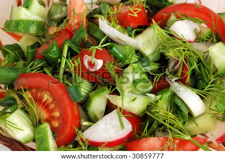 abstract background from salad