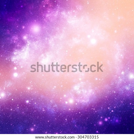 Abstract background from universe bodies - stock photo