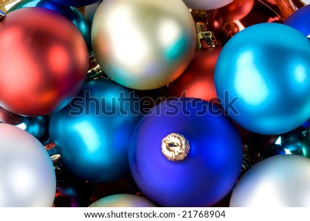 Abstract background from various christmas toys