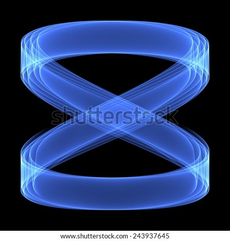 Abstract background. Geometric pattern. Infinity blue sign. Digital art. - stock photo