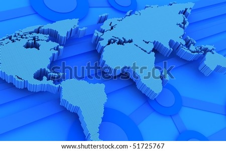 Abstract background. Global technology (done in 3d)