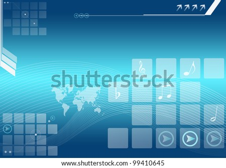 abstract background graphics created with technology