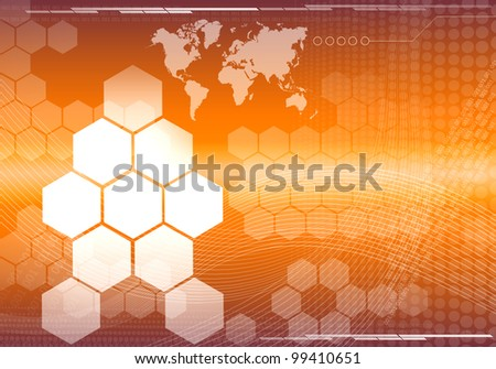 abstract background graphics created with technology - stock photo