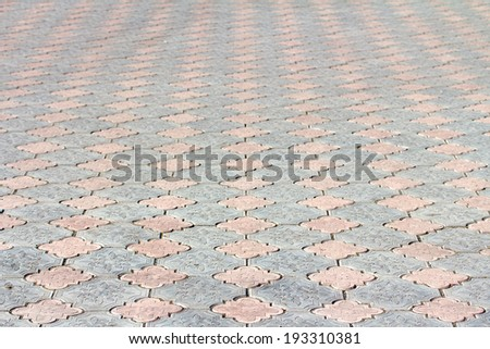 Abstract background - gray paving slabs - stock photo