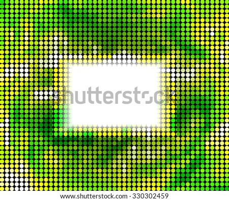 Abstract background. green abstract banner halftone circle. Raster version - stock photo