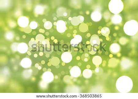 abstract background green bokeh circles. Beautiful background with particles.