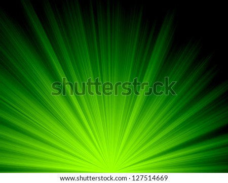 Abstract background green ,Colorful rays of light shining star in the dark - stock photo