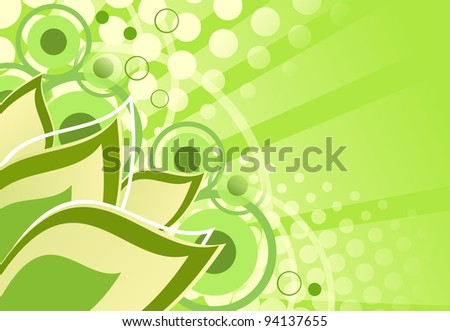 abstract background green. leaf. nature