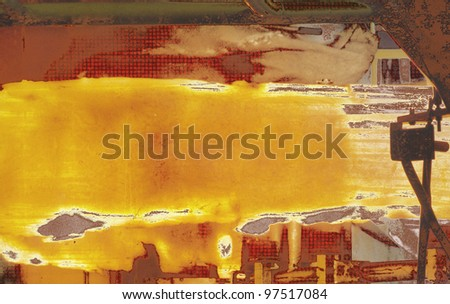 Abstract background, hot steel. - stock photo