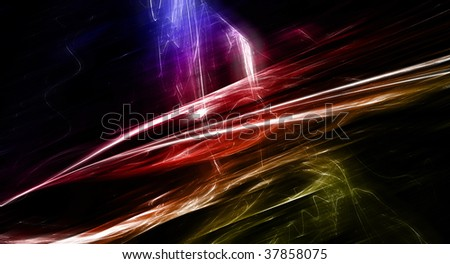 Abstract background illustration of a fractal in motion